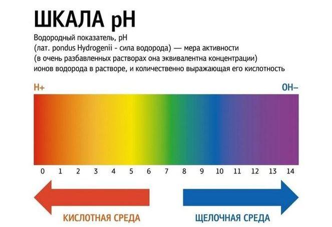 Уровни pH воды