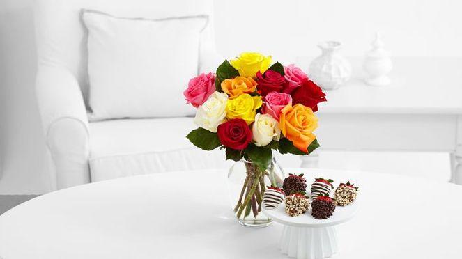 Букет свежесрезанных роз